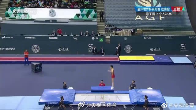 蹦床世界杯男子-高磊夺冠 董栋第三