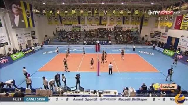 2016-2017赛季土耳其女排联赛第八轮,瓦基弗银行3-0费内巴切