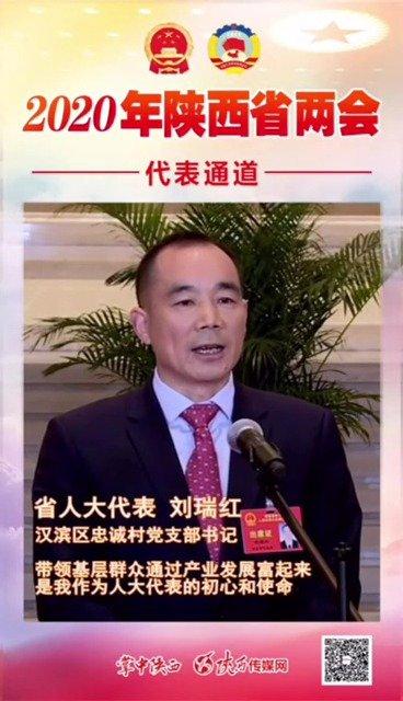 人大代表、汉滨区忠诚村党支部书记刘瑞红