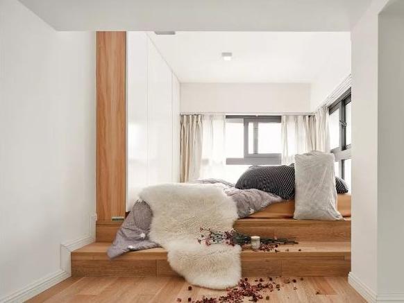 毕业3年买34平米小户型,两卧两卫,卧室台阶抬高,装修花8w