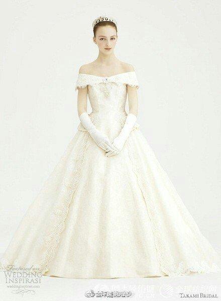 来自日本的Takami Bridal皇家婚纱礼服,甜美的宫廷复古风