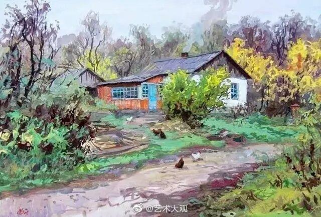 克里米亚画家弗拉基米尔·奥尔科夫风景油画-1Vladimir Nikolayevich