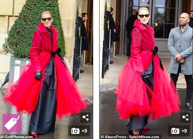50岁美声天后席琳迪翁艳惊巴黎高定时装周