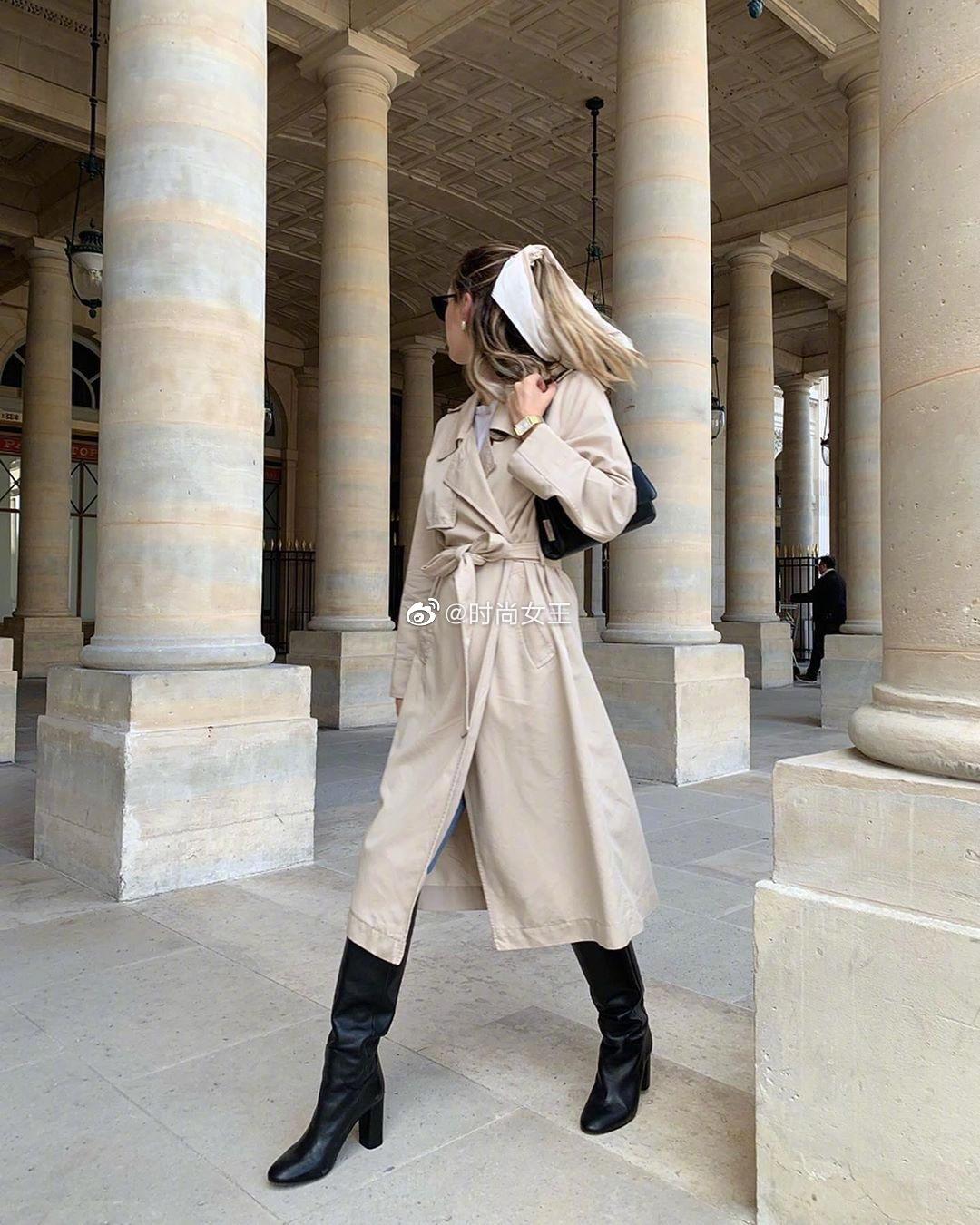 法国博主Marielle的日常穿搭分享,标准的法式穿搭