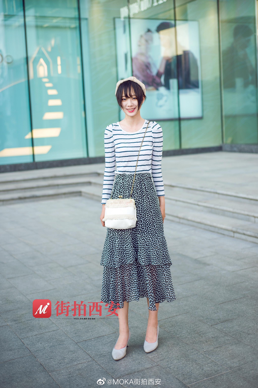 半身裙搭配参考无论是小碎花还是经典格纹都很好看经典