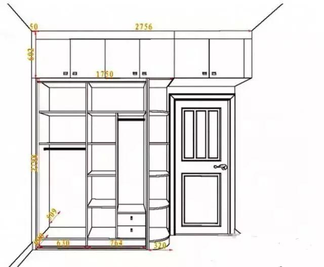20款衣柜设计黄金尺寸 设计图纸