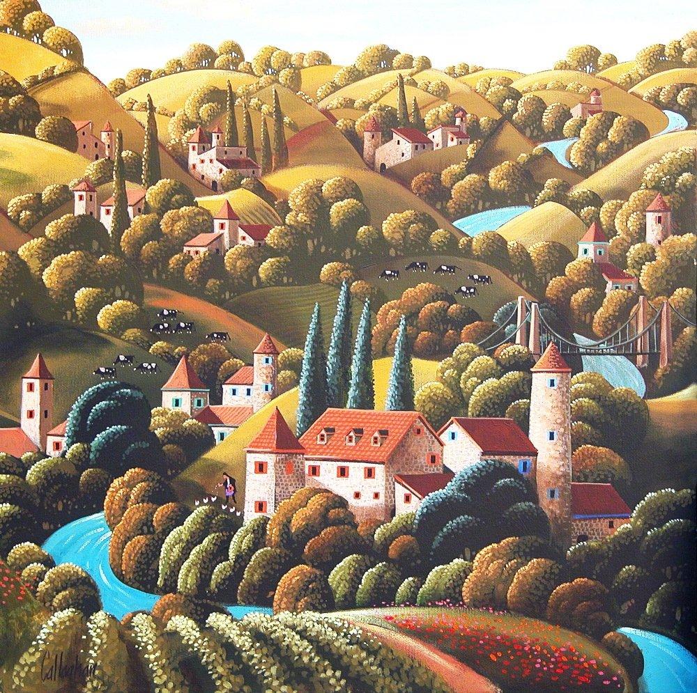 爱尔兰画家 George Callaghan(1941- ) 绘画作品     www