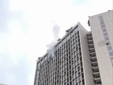 虎门一高层住宅起火,屋内被烧成炭……幸好无人员伤亡