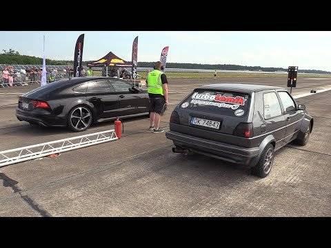 730HP大众高尔夫21.8 t vs奥迪RS7 Sportback