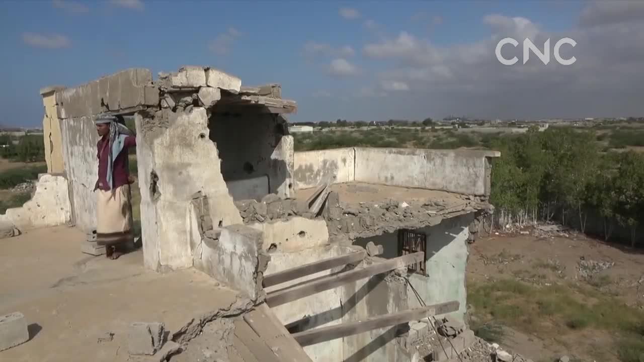 AI合成主播也门胡塞武装炮击荷台达 大量民宅受损
