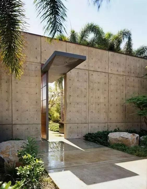 民宿庭院入口可以设计成这样 简单与美丽并存图片