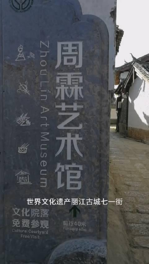 这两天在丽江的朋友,丽江古城七一街周霖艺术馆