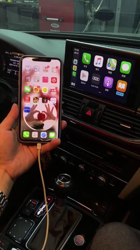 奥迪A6L改装 奥创CarPlay系统/原厂倒车影像系统 演示视频
