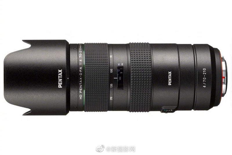 宾得HD PENTAX-D FA 70-210mm F4 ED SDM WR镜头外观及规格曝光