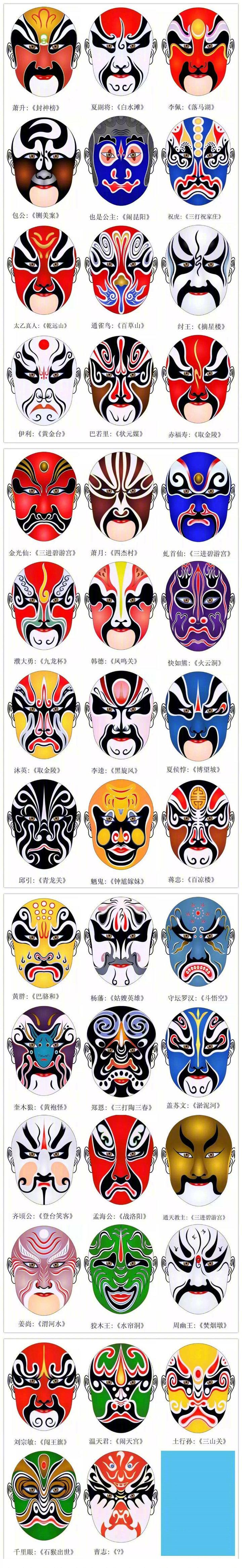 几百张超美的京剧脸谱,收藏绘制!by@photoshop大师cad值得书柜三视图图片
