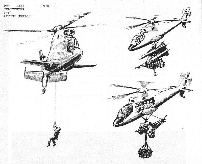 美式雌鹿,另类黑鹰,西科斯基s-67武装直升机