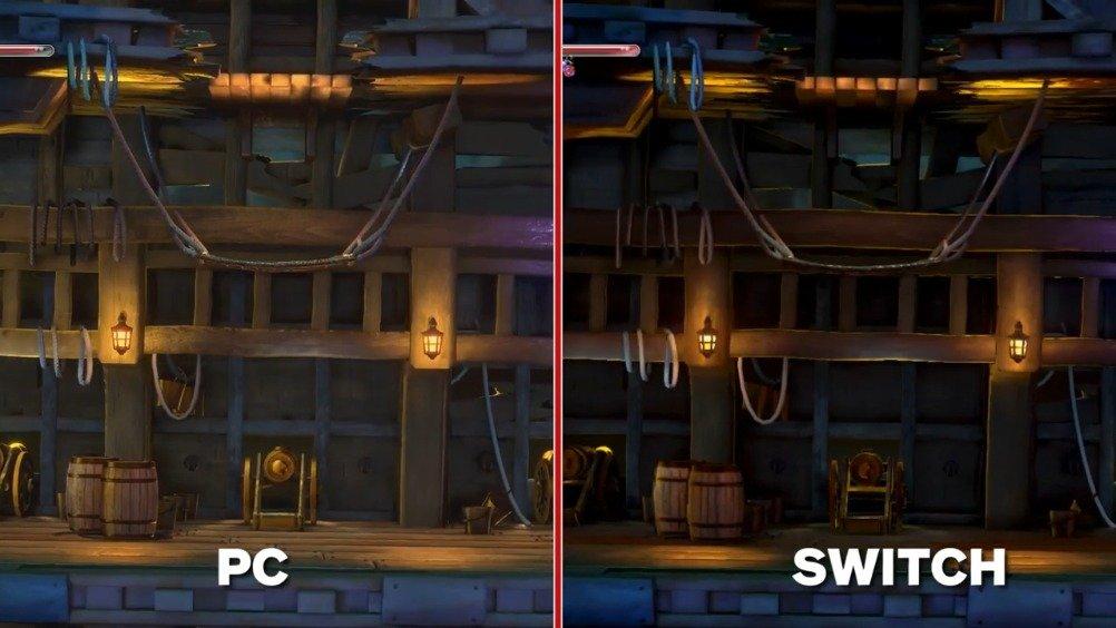 《血污:夜之仪式》PC版 vs Switch版画面对比