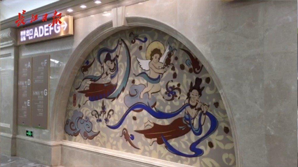 真美!地铁蔡甸线首次曝光,有后官湖四季美景有中法艺术浮雕