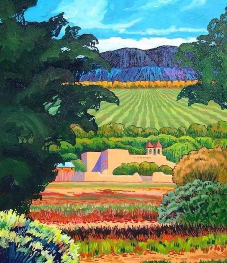 色彩绚丽的田园诗歌,似天上彩虹坠落田间,颜色搭配看着好舒服养眼