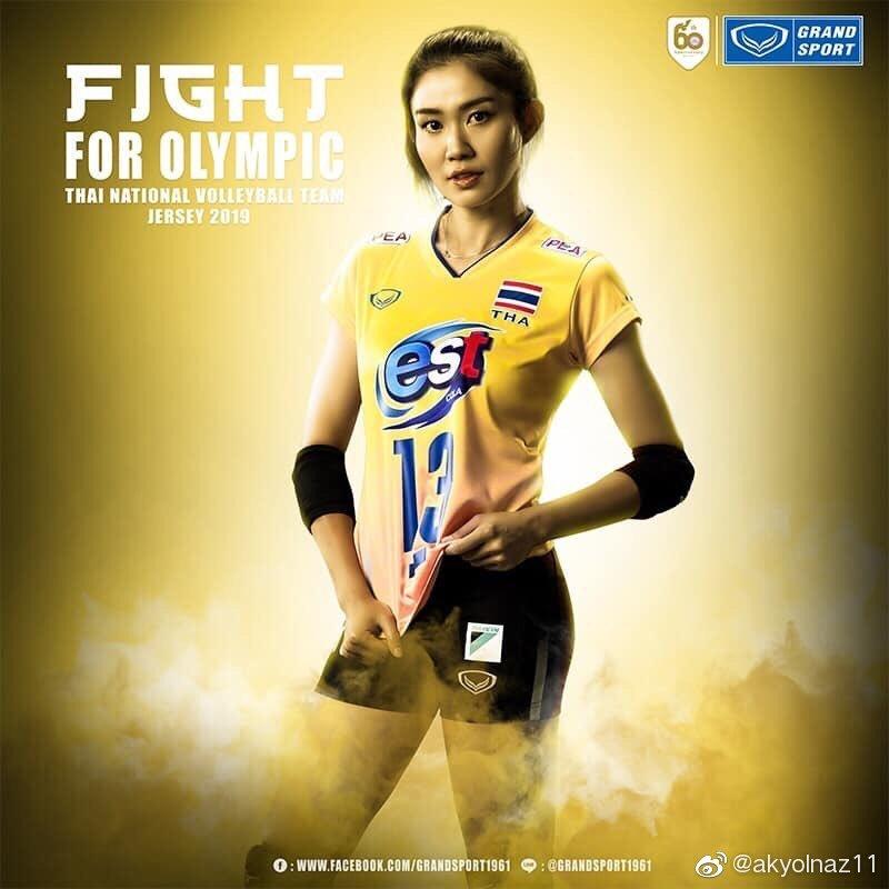 今年泰国女排国家队队服——为奥运会而已战!!!