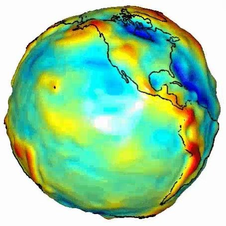 不同地方的引力是不一样的,9.8 m/s^2只是地球引力的平均值