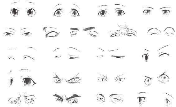 动漫人物眼睛怎么画?