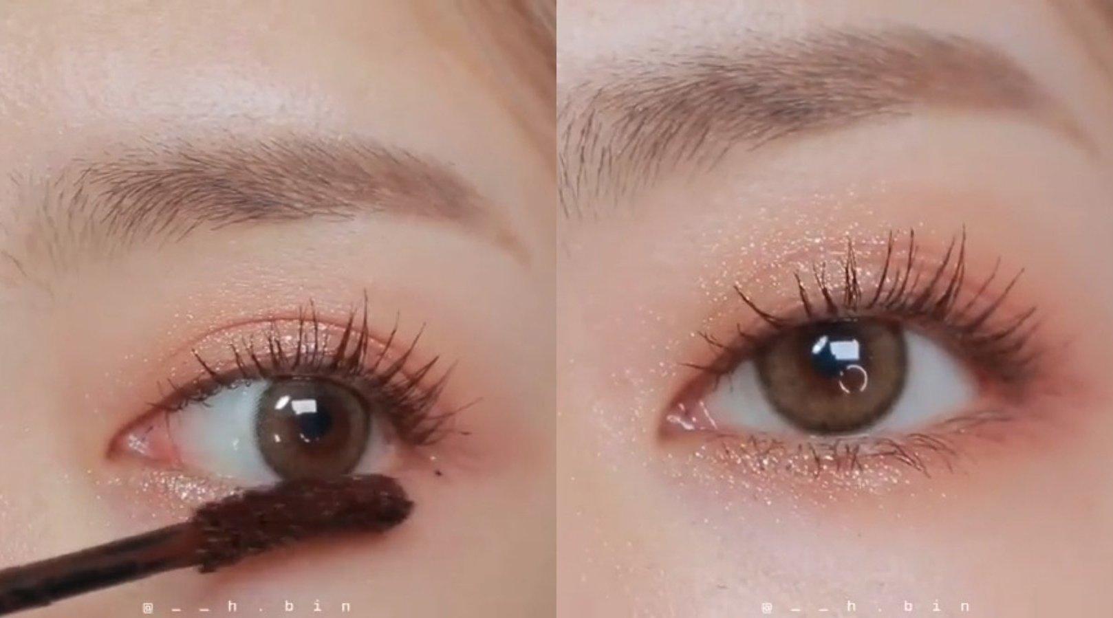 柔和的杏子暖棕眼妆