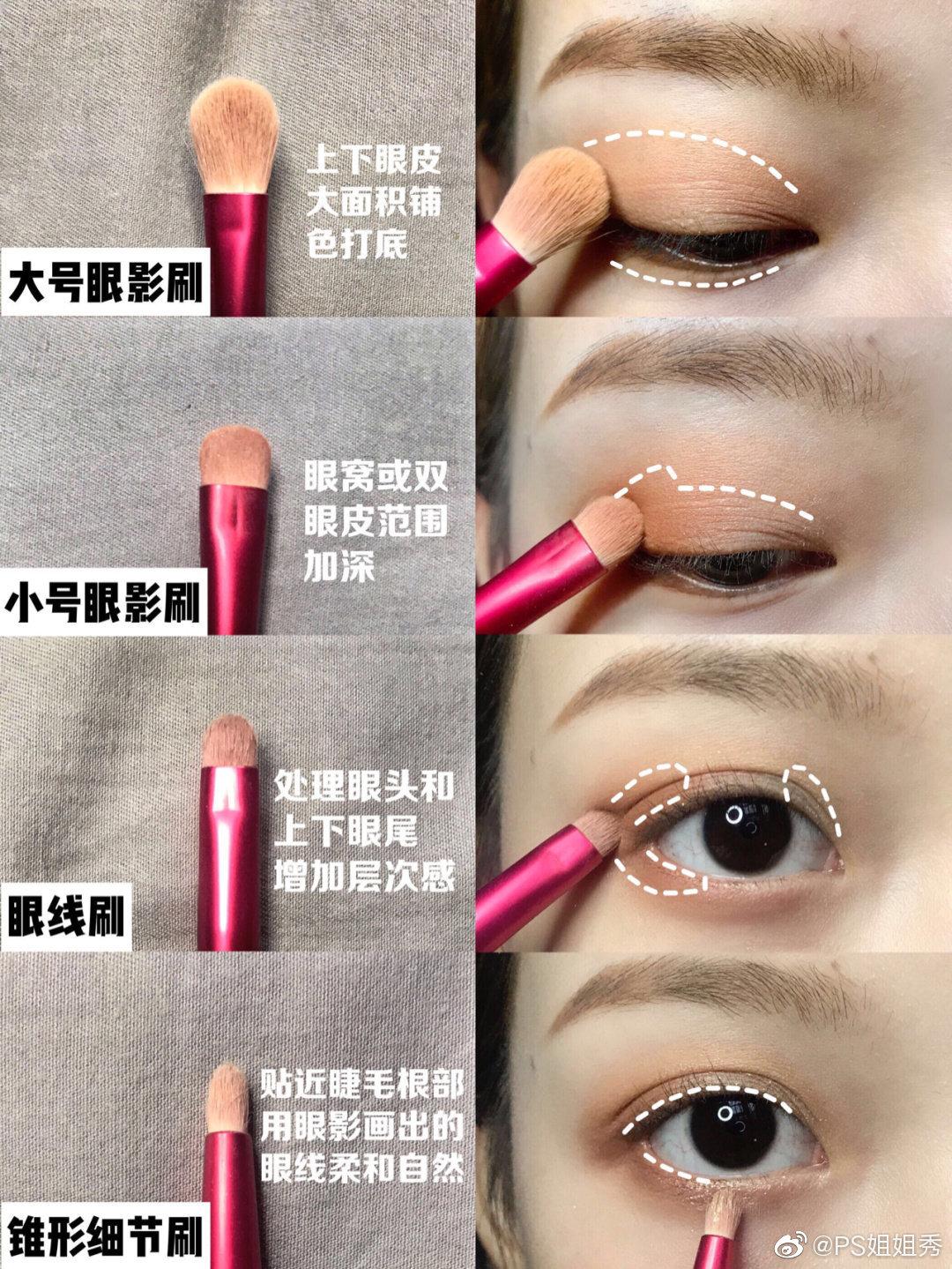 干货 化妆刷科普保姆级眼影刷教程