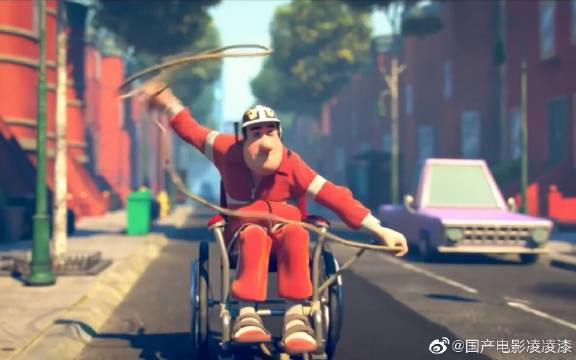 小伙发生意外成了残疾,坐上轮椅还想飙车,为了赢用绳子套住对方