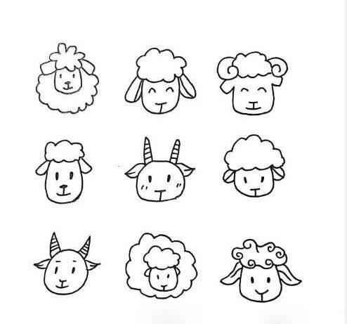 一波简单又可爱的动物简笔画,喜欢的马住