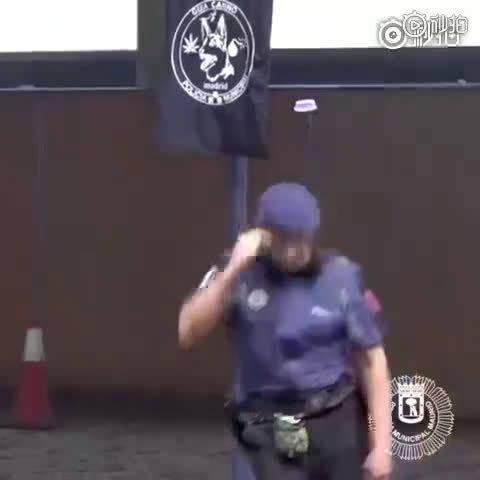 小警犬为警员做心脏复苏的动作真是好厉害!居然还会听心跳