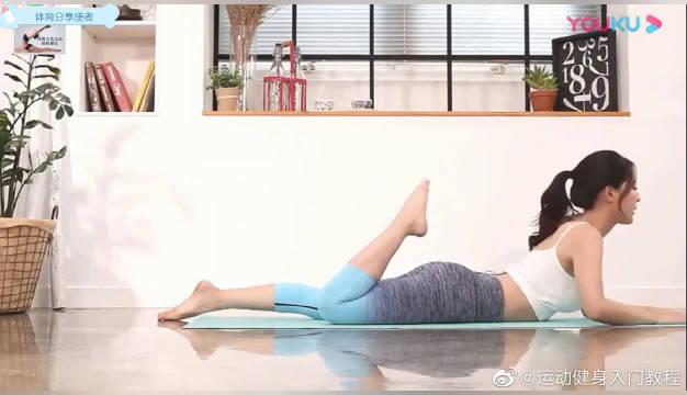 美足瘦腿拉伸韧带,只需趴着即可,每日练习,完美气质伴随你