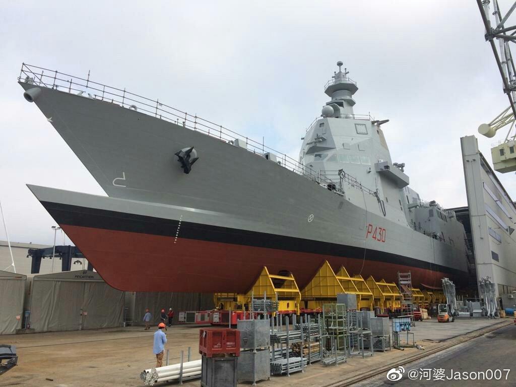 """意大利海军新一代多用途巡逻护卫舰(PPA)首舰""""保罗·陶内·迪·莱费尔"""""""