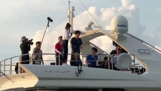三亚录制,吴谨言跳海前喊话给自己鼓劲