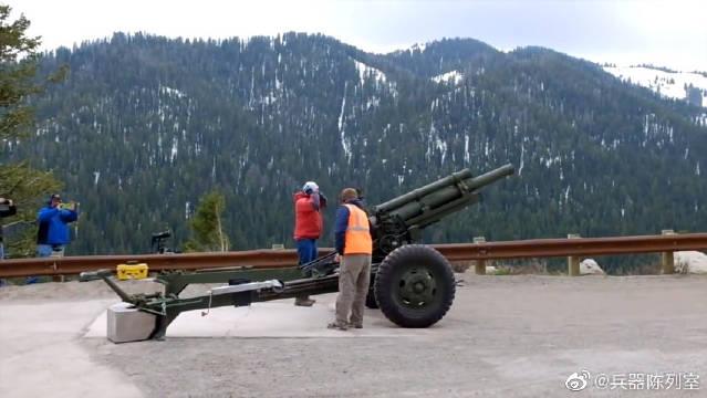 M101式105毫米榴弹炮是美国岩岛兵工厂生产的口径105毫米的牵引式榴弹