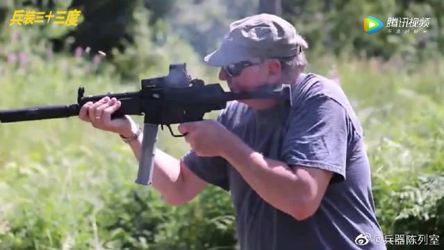 MP5世界上最轻便的冲锋枪,射击瞬间声响真不大
