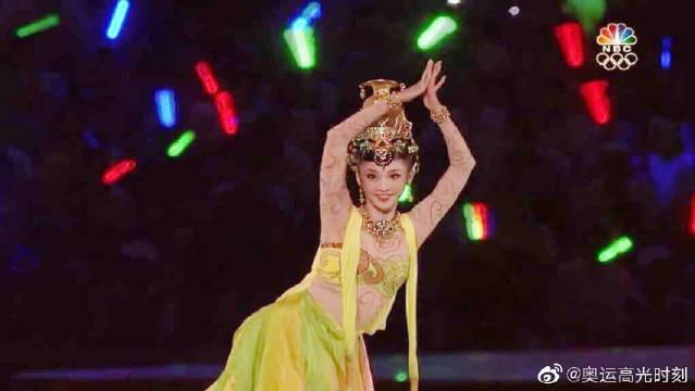 2008年北京奥运会开幕式,敦煌飞天长绸舞《丝路》