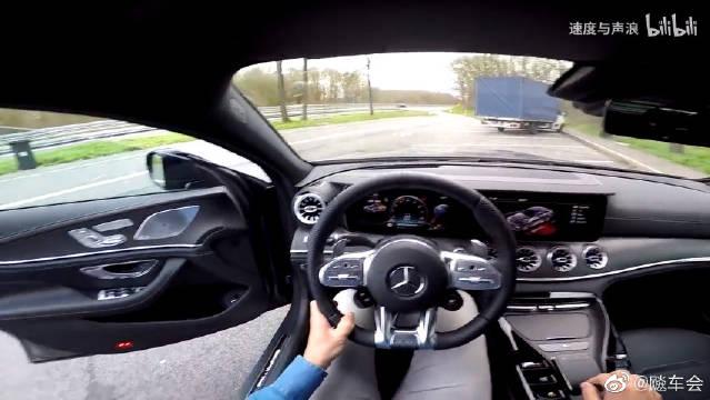 猛兽出征,奔驰GT63 AMG,德国不限速高速0-285km/h