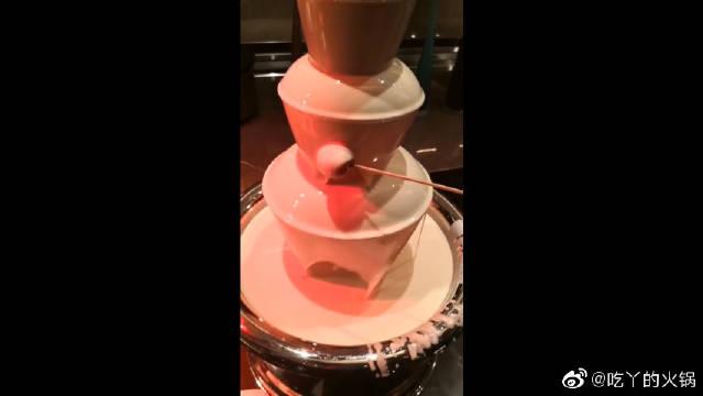 迪拜男友送我的巧克力瀑布,身家几十亿还这么抠门,真是不太好啊
