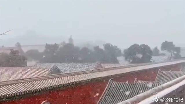 只要一下雪,北京就变成了北平故宫就变成了紫禁城,这画面太唯美了