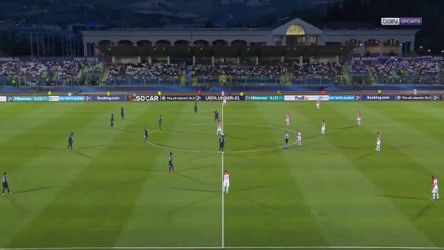 昨晚 小组赛第二轮, 对克罗地亚。靠里昂前锋M 登佩莱的进球