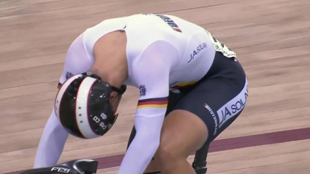 极致的速度美学!2015年场地自行车冲刺决赛