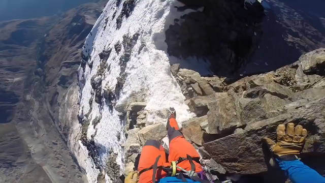 恐高慎点!老外第一视角带你攀登阿尔卑斯山脉马特洪峰,感受下!