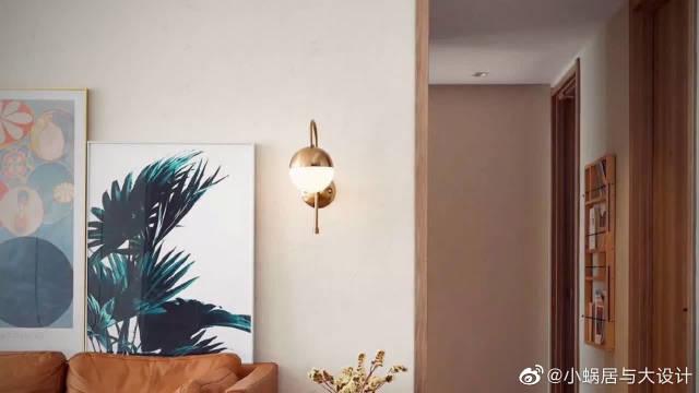 102平北欧风格家装效果,木质地板加开放式厨房设计