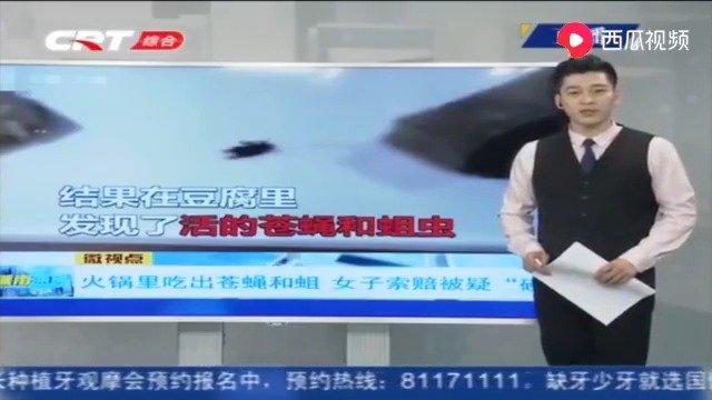 """火锅豆腐里竟有活苍蝇和蛆?顾客索赔被疑""""碰瓷"""",监控还原真相"""