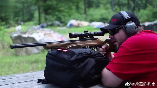 TCR-22小口径步枪,几乎没有后坐力,装上消音器更安静了