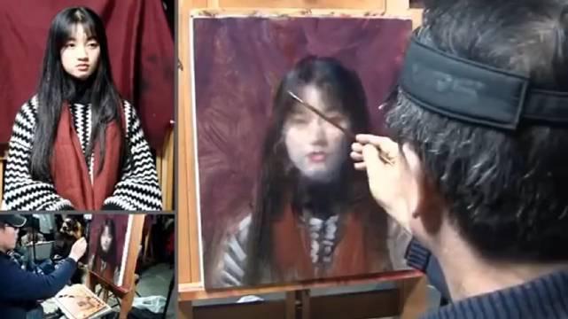 冷军老师油画肖像示范教程。(1个多小时高清珍藏)