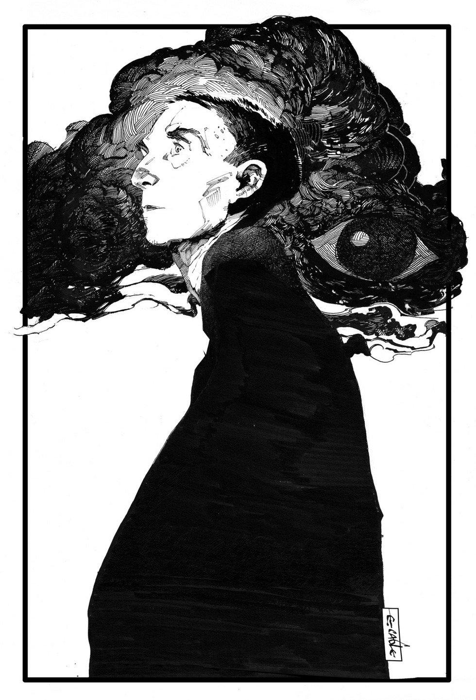 也许只有这样的黑白画面才能体现线条的力量与美吧 -evan cagle