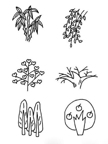 植物类的简笔画素材