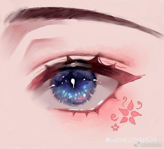 插画师watersmile829画笔下通透深邃的眼睛